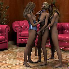 Lesbian lesbo.