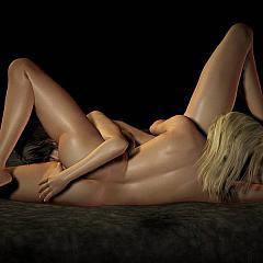 Lesbian breathtaking.